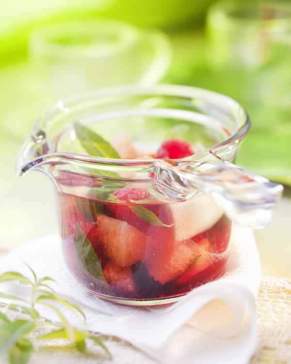 Photo culinaire, soupe fruits rouges verveine