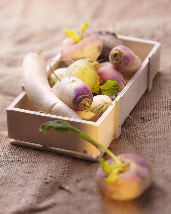 navets, radis japonais, boule d'or, légume racine