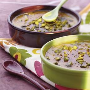Recette cuisine gratin, crème brulée à la pistache