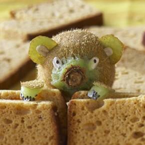 Design culinaire - Ourson kiwi