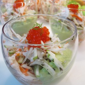 Atelier cuisine surimi et recette de verrine  l&#039;avocat