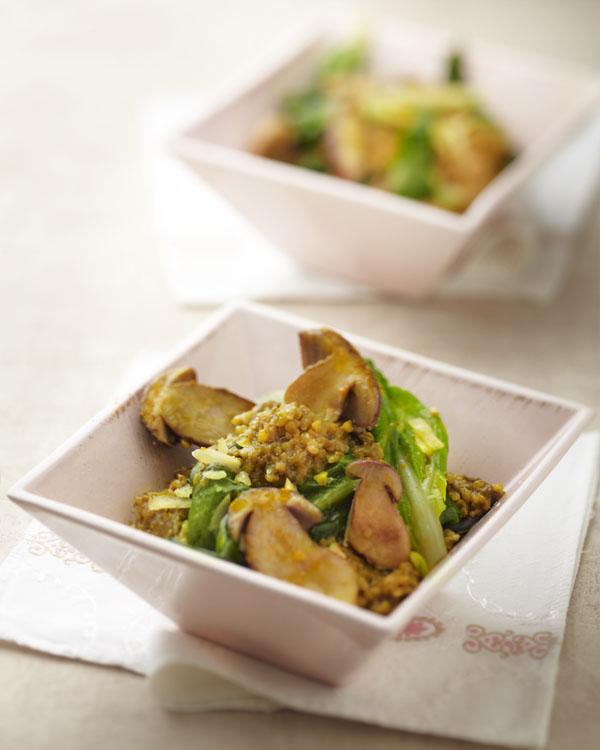 recette saveurs de risotto de boulgour aux cèpes et bettes