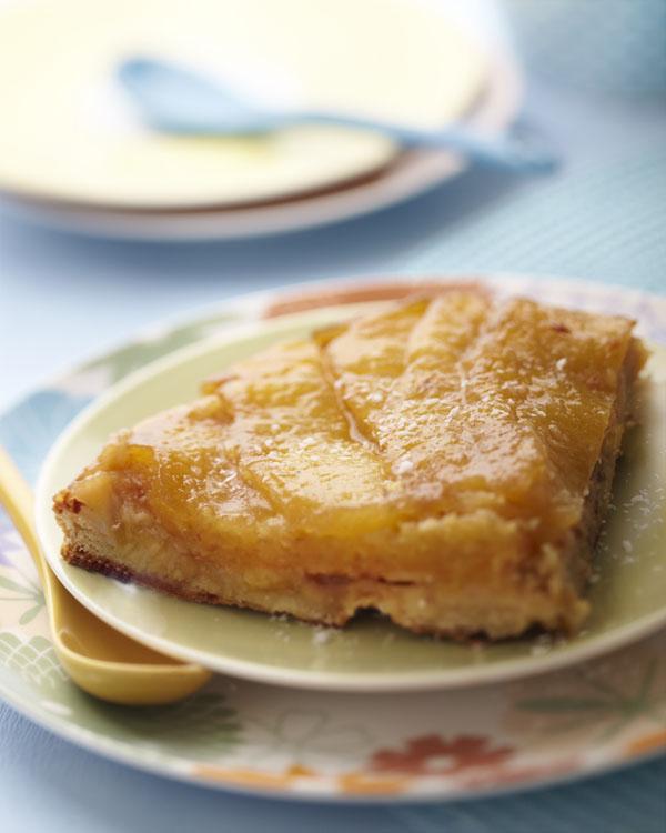 tarte exotique ananas banane rhum coco