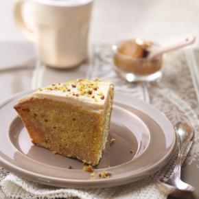 Gâteau safran-argan glacé café-bergamote