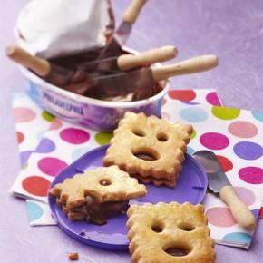 Biscuits fourrés au chocolat, la pâte à tartiner astucieuse