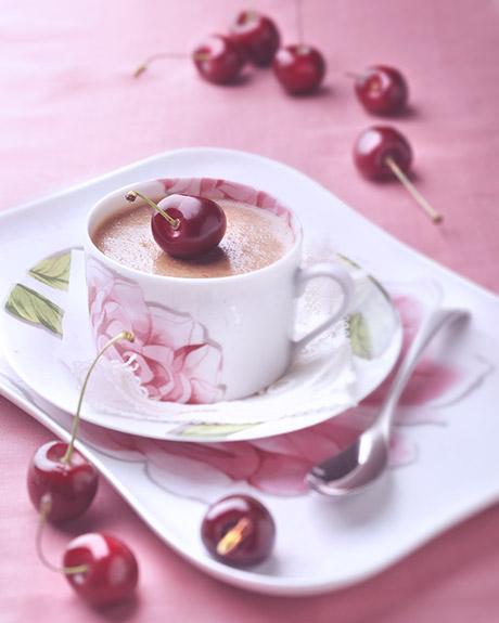 Crème chocolat cerises façon Forêt Noire