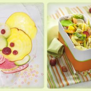 Création culinaire en couleurs printanières