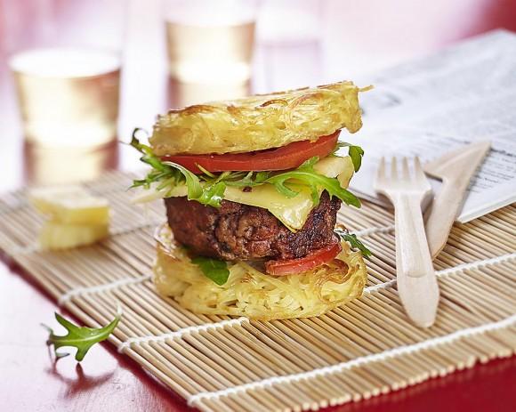 Pasta burger en photographie culinaire