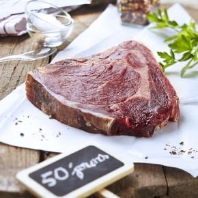 Photo culinaire, viande maturée 50 jours