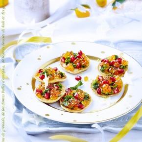 Photographie culinaire en carte de voeu