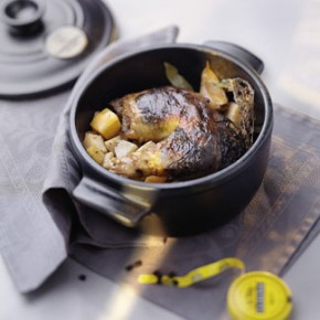 Recette cuisine gratin, cocotte pintade réglisse