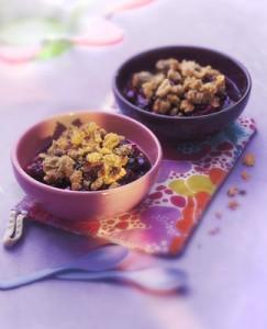 Recette cuisine gratin, crumble corse (brebis, cerises noires)