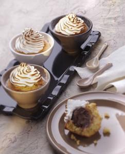 Recette cuisine gratin, muffins surprises meringués