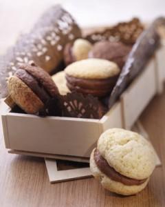 Recette de petits gâteaux, whoopie pie triple chocs.