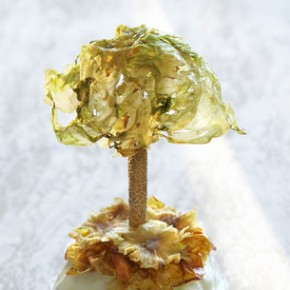 Design Culinaire - Luminaire Art Nouveau en légumes