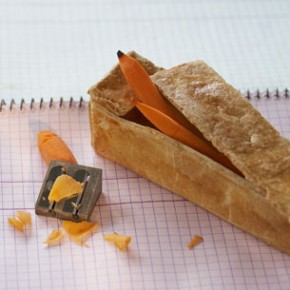 Design Culinaire - Boîte à crayon carotte