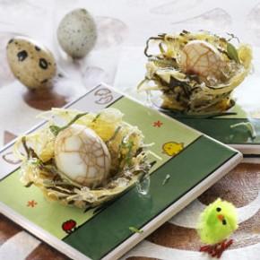 Design culinaire - Oeufs marbrés