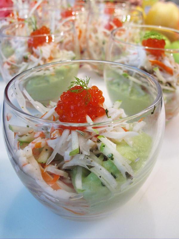 création culinaire surimi