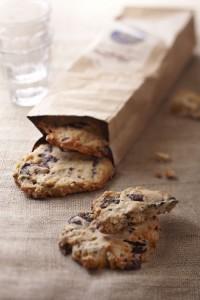Photographie culinaire : cookies à l'okara et chocolat