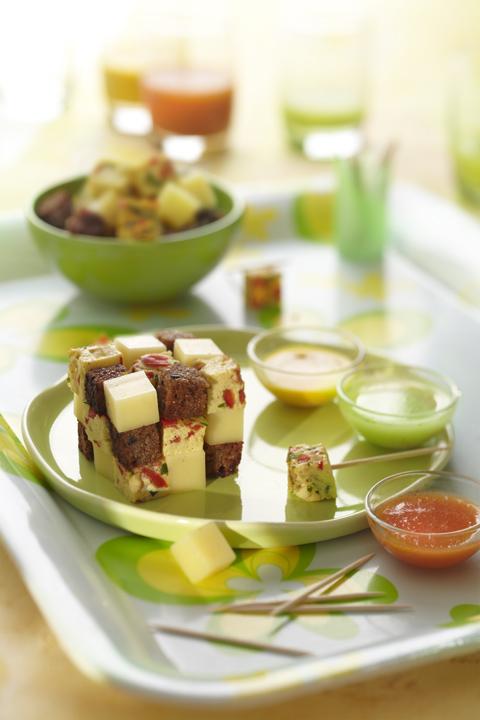 design culinaire, rubik's cube apéritif
