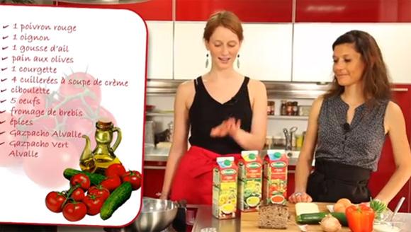 vidéo culinaire gaspacho déco Alvalle