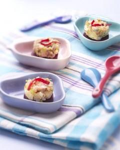 Photographie culinaire : tartare maquereau, betterave confite