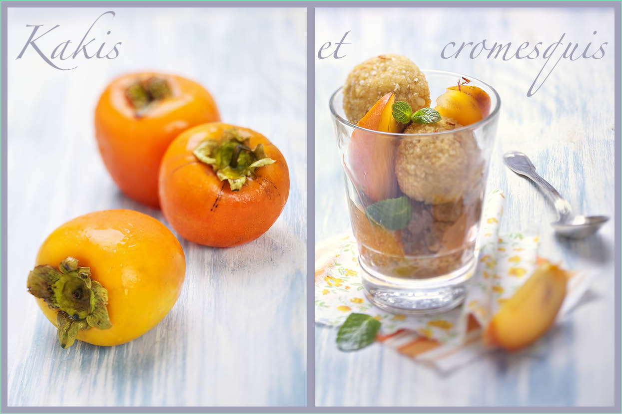 Photographie culinaire : stylisme culinaire variation cromesquis kaki
