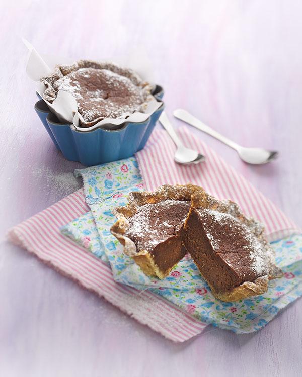 Photographie culinaire : tarte fondante au chocolat
