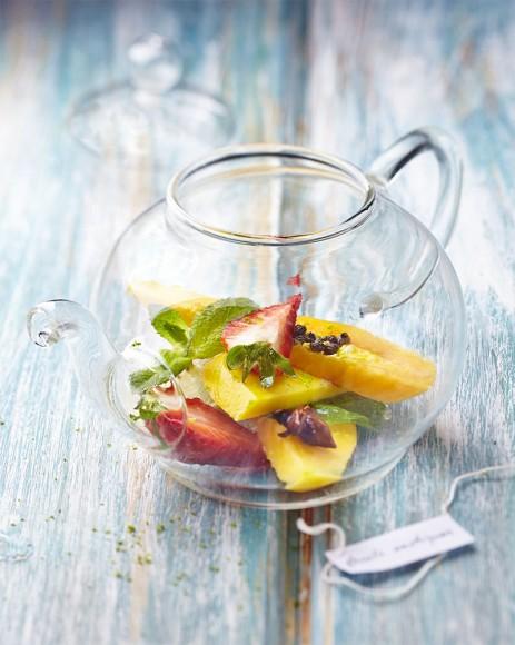 Photo culinaire de salade de fruits nature.