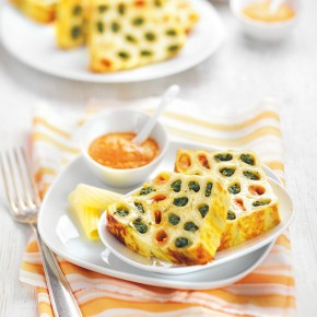 Design culinaire : cake de rigatoni farcis