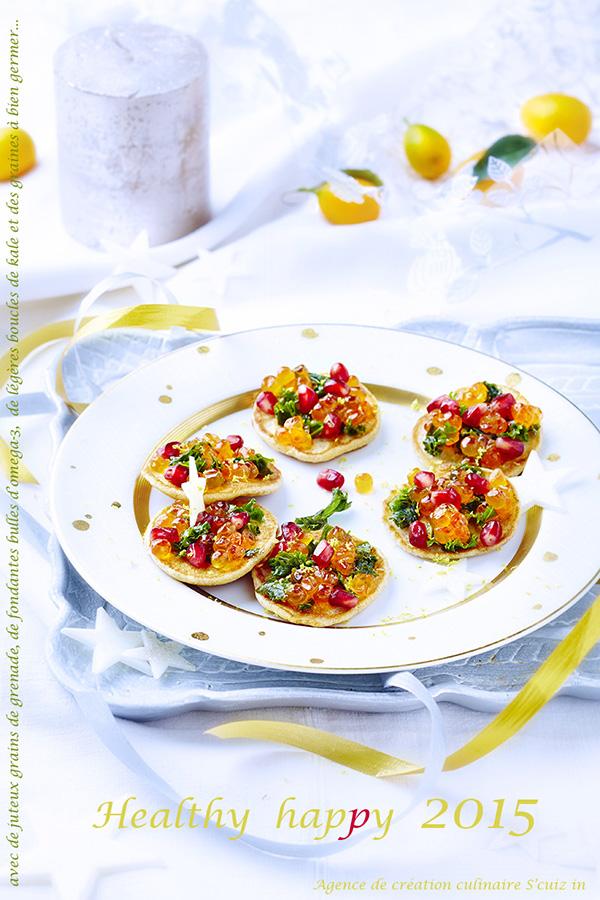 photo culinaire en carte de voeux