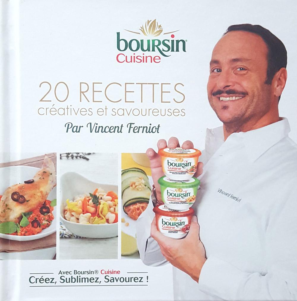 Livre Boursin Cuisine de Vincent Ferniot. Stylisme culinaire et photo culinaire Agence S'cuiz in
