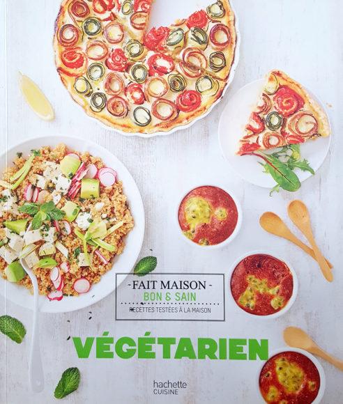 """Livre """"Végétarien"""", agence S'cuiz in, éditions Hachette Cuisine"""