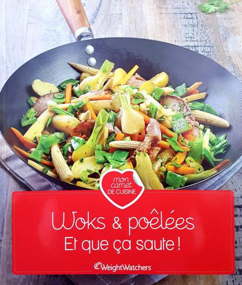 "Livre ""Woks & poêlées"", agence S'cuiz in, éditions Weight Watchers"