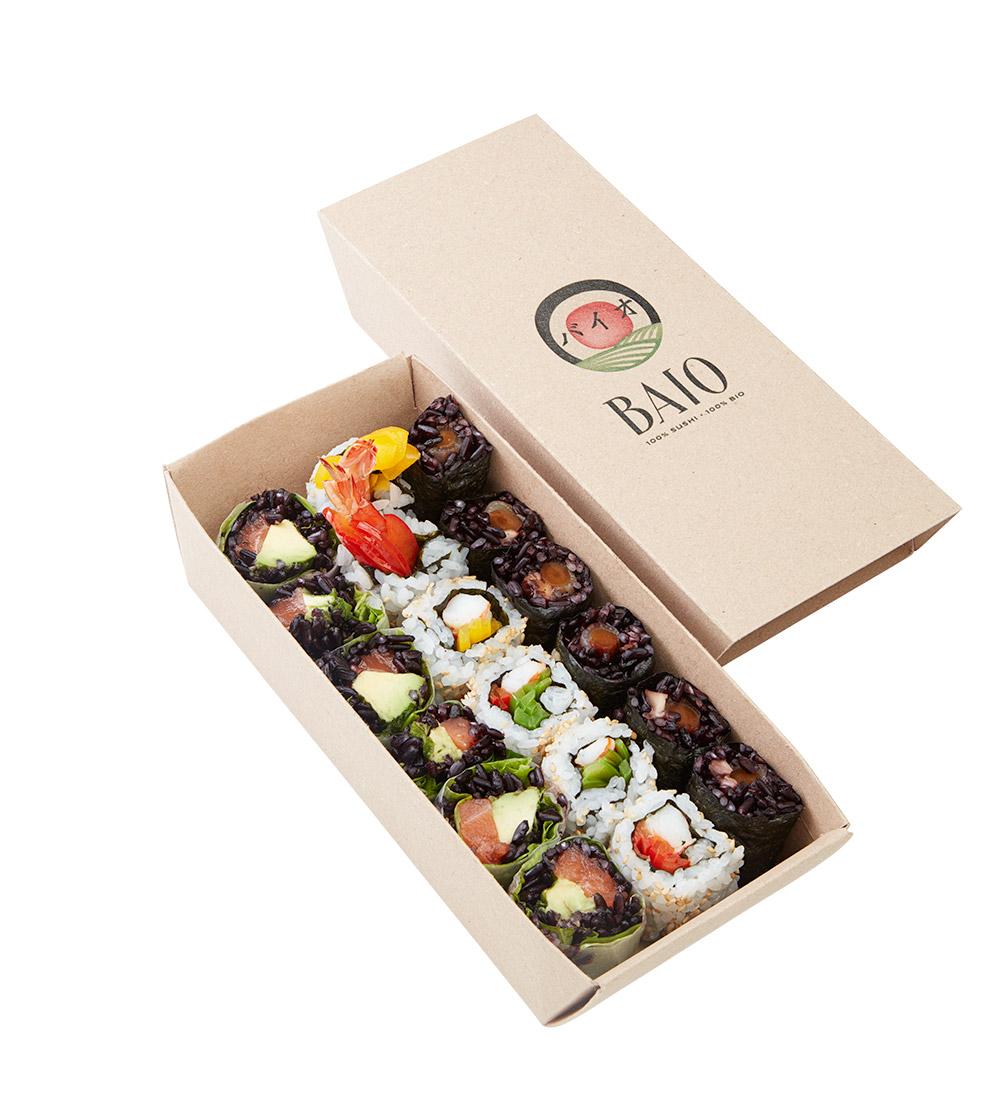 Packshot Baïo boîte sushi médium