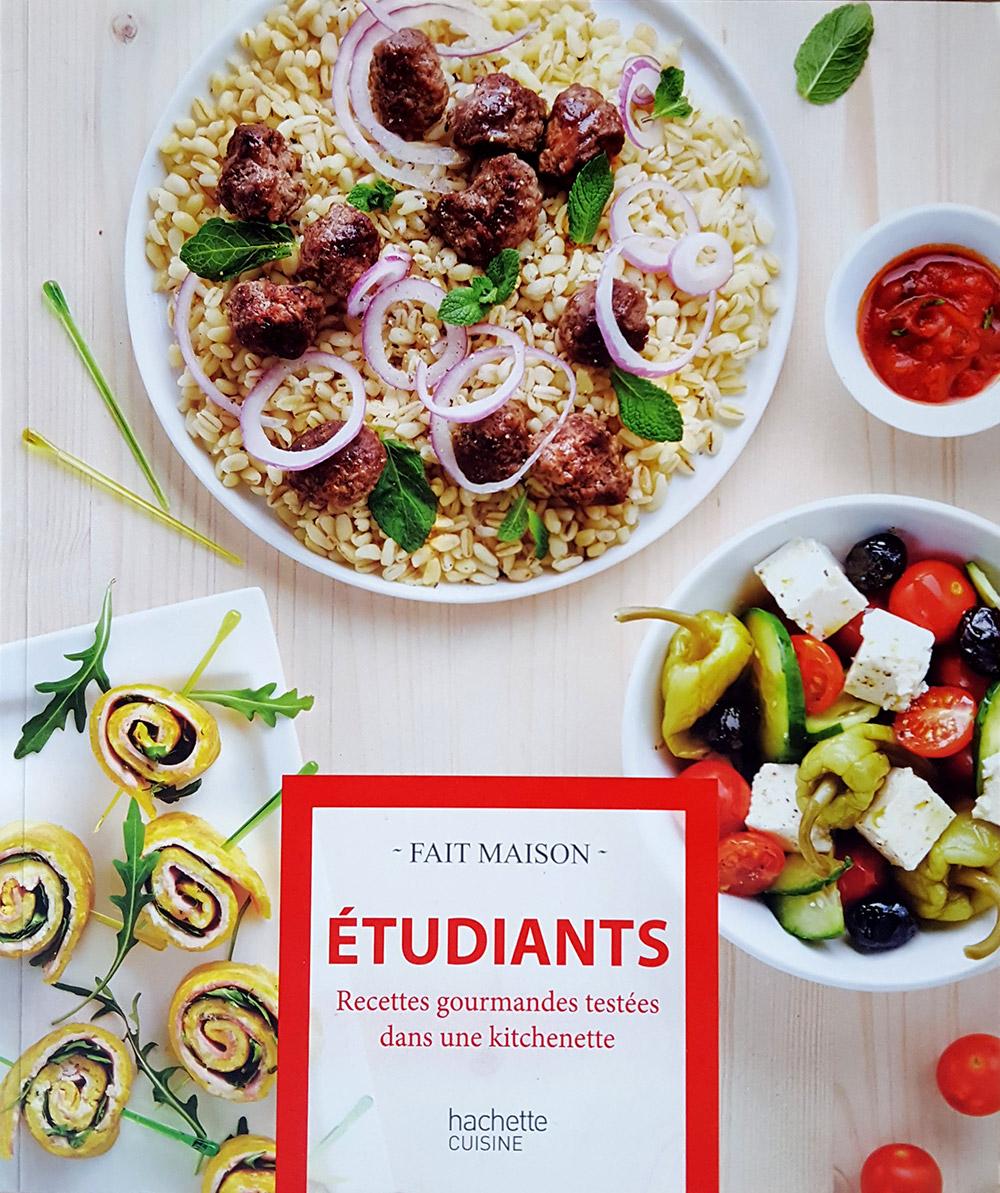 Livre recettes gourmandes Etudiants - Stylisme et photo culinaire S'cuiz in, éditions Hachette Cuisine
